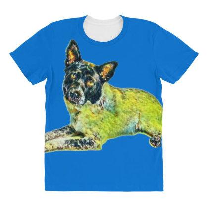 A Pretty Adult Australian She All Over Women's T-shirt Designed By Kemnabi