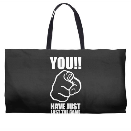 You Have Just Lost The Game  Funny Computer Internet Humour Weekender Totes Designed By Lyly