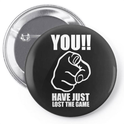 You Have Just Lost The Game  Funny Computer Internet Humour Pin-back Button Designed By Lyly
