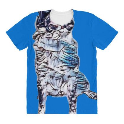 Funny Photo Of A Large Austra All Over Women's T-shirt Designed By Kemnabi