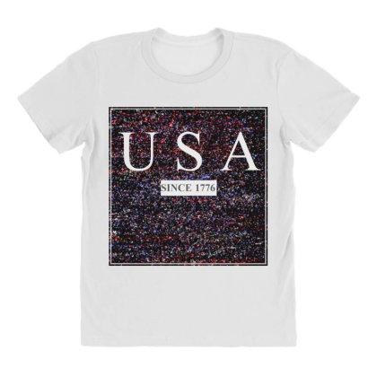 Usa All Over Women's T-shirt Designed By Aditya@8979