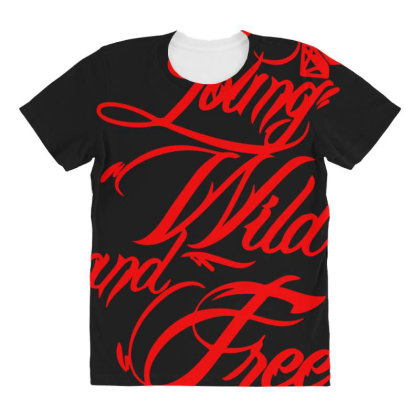 Young Wild And Free New All Over Women's T-shirt Designed By Lyly