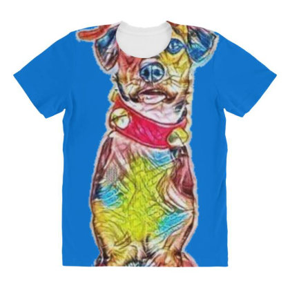 Tall Vertical Image Of A Cute All Over Women's T-shirt Designed By Kemnabi