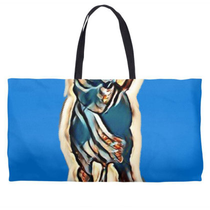 Cute Young Obedient Mixed Bre Weekender Totes Designed By Kemnabi