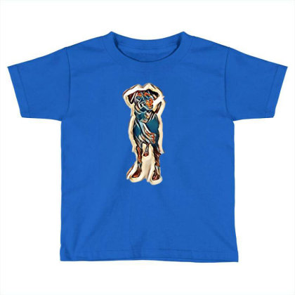Cute Young Obedient Mixed Bre Toddler T-shirt Designed By Kemnabi