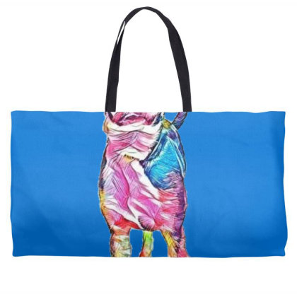 Cute Young Mixed Hound Breed Weekender Totes Designed By Kemnabi