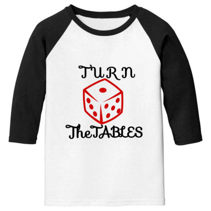 Turn The Tables Youth 3/4 Sleeve Designed By Thakurji