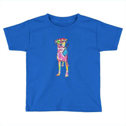 Cute Young Mixed Hound Breed Toddler T-shirt Designed By Kemnabi
