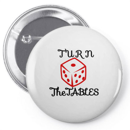 Turn The Tables Pin-back Button Designed By Thakurji