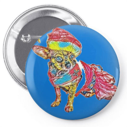 Cute Little Chihuahua Crosbre Pin-back Button Designed By Kemnabi