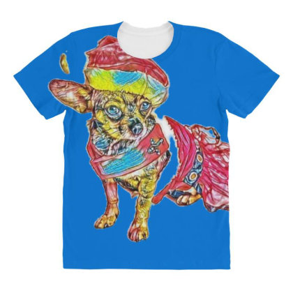 Cute Little Chihuahua Crosbre All Over Women's T-shirt Designed By Kemnabi