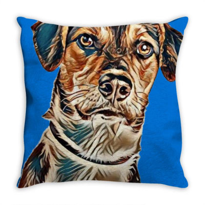 Closeup Image Of A Cute Young Throw Pillow Designed By Kemnabi