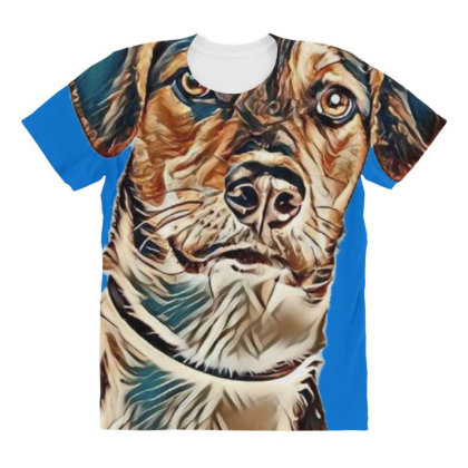 Closeup Image Of A Cute Young All Over Women's T-shirt Designed By Kemnabi