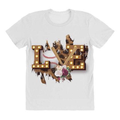 Love Softball All Over Women's T-shirt Designed By Bettercallsaul