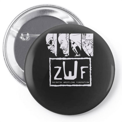 Zaibatsu Wrestling Federation 4 Life Pin-back Button Designed By Lyly