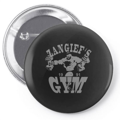Zangief's Gym Pin-back Button Designed By Lyly