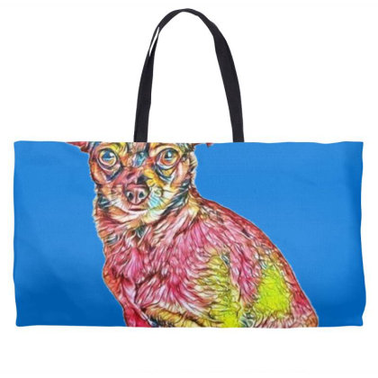 Cute Little Chihuahua Small M Weekender Totes Designed By Kemnabi