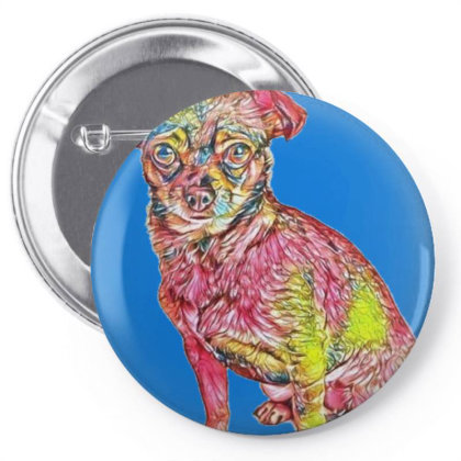 Cute Little Chihuahua Small M Pin-back Button Designed By Kemnabi