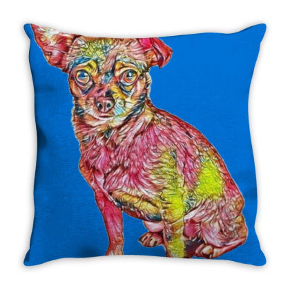 Cute Little Chihuahua Small M Throw Pillow Designed By Kemnabi