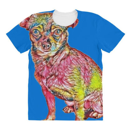 Cute Little Chihuahua Small M All Over Women's T-shirt Designed By Kemnabi