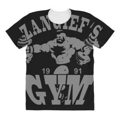 Zangief's Gym All Over Women's T-shirt Designed By Lyly