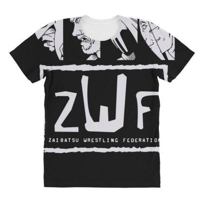 Zaibatsu Wrestling Federation 4 Life All Over Women's T-shirt Designed By Lyly