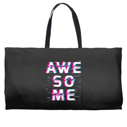 Awesome Glitch Weekender Totes Designed By Badaudesign