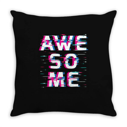 Awesome Glitch Throw Pillow Designed By Badaudesign