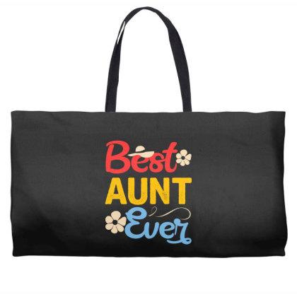 Best Aunt Ever Weekender Totes Designed By Badaudesign