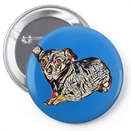 Cute Little Chihuahua Crossbr Pin-back Button Designed By Kemnabi