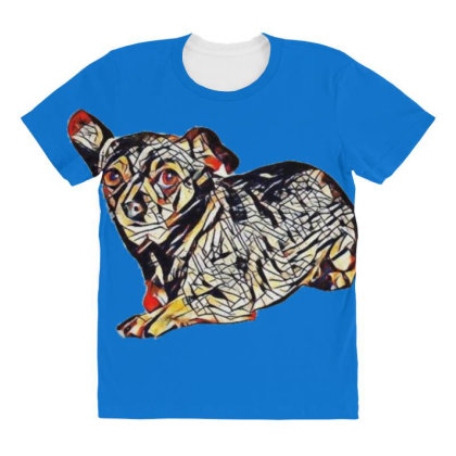 Cute Little Chihuahua Crossbr All Over Women's T-shirt Designed By Kemnabi