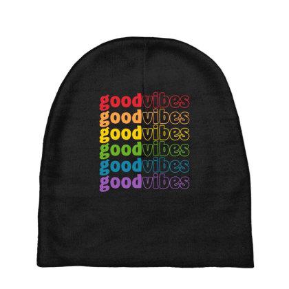 Good Vibes Lgbt Pride Month Baby Beanies Designed By Badaudesign