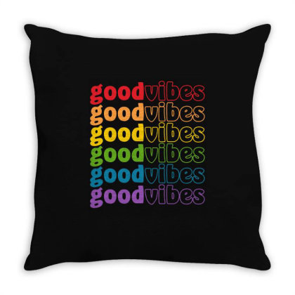 Good Vibes Lgbt Pride Month Throw Pillow Designed By Badaudesign