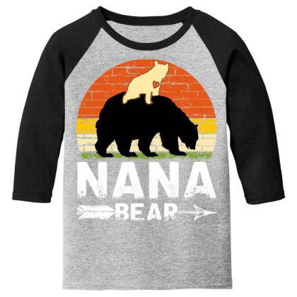 Nana Bear Youth 3/4 Sleeve Designed By Badaudesign