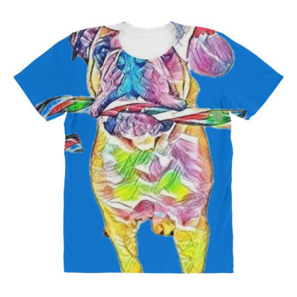 Funny Photo Of An English Bul All Over Women's T-shirt Designed By Kemnabi
