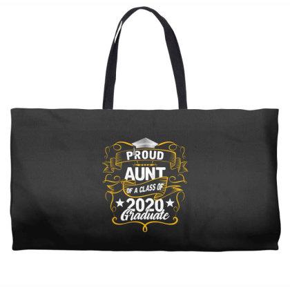 Proud Aunt Of A 2020 Graduate Weekender Totes Designed By Badaudesign