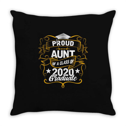 Proud Aunt Of A 2020 Graduate Throw Pillow Designed By Badaudesign