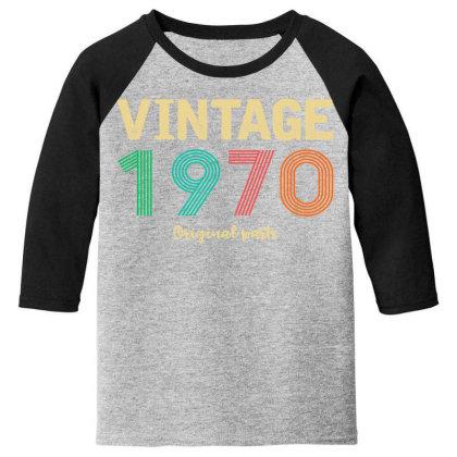 Vintage 1970 Original Parts Youth 3/4 Sleeve Designed By Badaudesign
