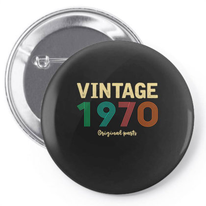 Vintage 1970 Original Parts Pin-back Button Designed By Badaudesign