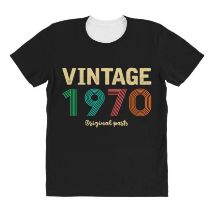 Vintage 1970 Original Parts All Over Women's T-shirt Designed By Badaudesign