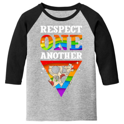 Respect One Another Youth 3/4 Sleeve Designed By Badaudesign