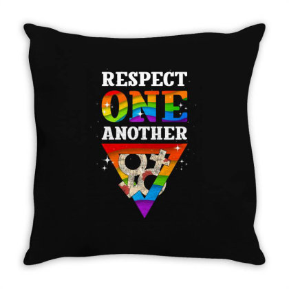 Respect One Another Throw Pillow Designed By Badaudesign