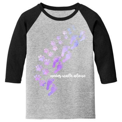 Never Walk Alone Youth 3/4 Sleeve Designed By Badaudesign