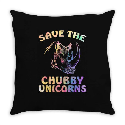Save The Chubby Unicorns Throw Pillow Designed By Badaudesign