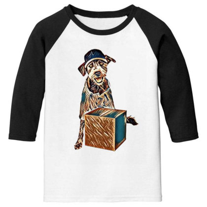 Friendly Mixed Breed Terrier Youth 3/4 Sleeve Designed By Kemnabi