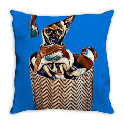 Cute Little Chihuahua Dog Wea Throw Pillow Designed By Kemnabi