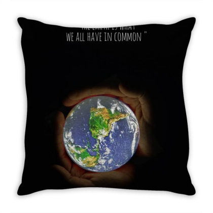 The Earth In My Hand Throw Pillow Designed By P.s