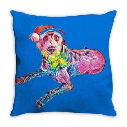 Cute And Funny Looking Terrie Throw Pillow Designed By Kemnabi