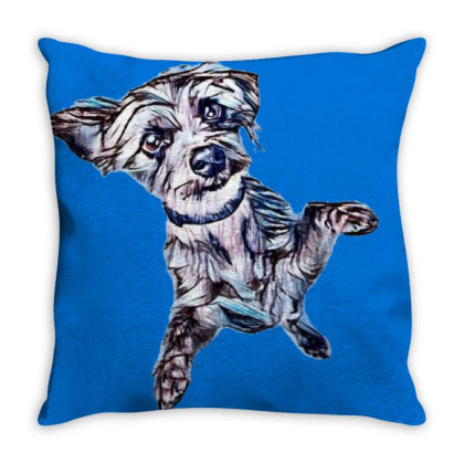 Adorable Young Little Mixed T Throw Pillow Designed By Kemnabi