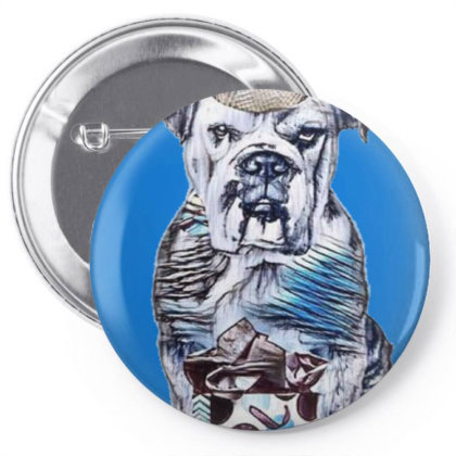 Funny Photo Of A Bulldog Bree Pin-back Button Designed By Kemnabi